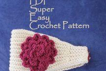 Crochet, knit / Headbands