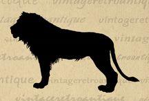 Printable Animal Images from Vintage Artwork / Printable animal themed antique art digital images from VintageRetroAntique.com
