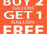 Buy 2 Gallons Get 1 Gallon FREE!