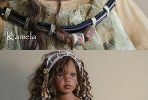 Vinyl dolls and clothing