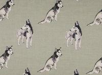 Siberian Husky / Fabrics from www. nikki-szabo.co.uk