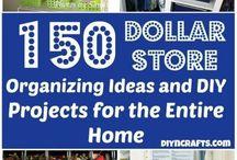 Home Storage Organizational Ideas / DIY and fun ideas for organization storage in the home