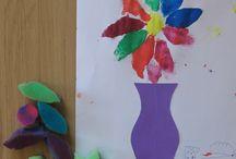Flower craft and art ideas