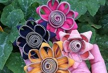 fabric flowers / by Anne O'Connor