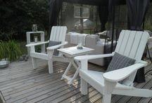 Ulkosisustuksia / Luovaa sisustamista puutarhaan, patiolle, parvekkeelle.