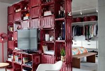 Casa / Idéias criativas que economizam espaço na decoração da casa.