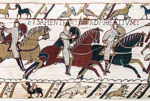 Bayeux Tapestry / Images from the Bayeux Tapestry -- an embroidered cloth depicting the events of 1066 and the Norman Conquest of England (http://en.wikipedia.org/wiki/Bayeux_tapestry)