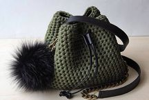 Crochet bags and clutches