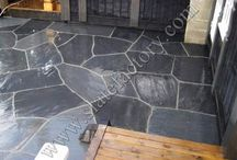 Slate Patios and Stepping Stones / by Waterfalls Fountains & Gardens Inc.