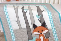 Fox Nursery / The Fox Nursery is full of friendly animals and a bright orange and gray color combination. This boy's nursery has modern, trendy bedding and room decor. As they say, he's a sly one, that fox.