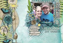 Studio4 Designworks Scrapbook Layouts / Pages created from Scrapkits