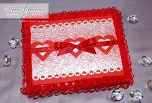 Detto con il cuore... / Per Annagrazia e il suo fidanzato ho realizzato un Biglietto per San Valentino, coordinato con Scatola e personalizzato con dedica su pergamena.
