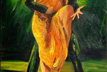 Tango in painting