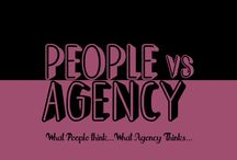 Agency Vs People by Brandcare / The meaning of different terms is different to different people. A creative mind's take on what an agency thinks and what people think.