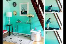 Ombre wall / Paredes y muebles en color degradado