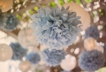 Dusty Blue, Nude and White Wedding