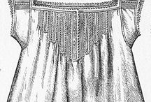 Chemise models / Bustle period's chemise inspirations