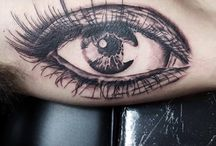 realistic eyes tattoo