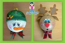 Fofuchas esferas navidad