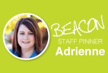 BEACON Staff Pinner: Adrienne / Pins from our President + Creative Director.