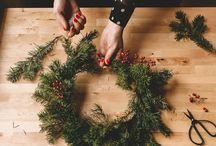 Рождественские венки,свечи,композиции