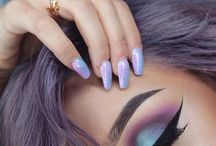 eyes and nail for makeup