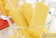 picolé de  milho