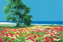 Natuur schilderijen / Nature paintings / Prachtige natuur schilderijen en reproducties van natuur fotos, zeefdrukken.
