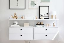 Kids monochrome / Love the floating cupboards