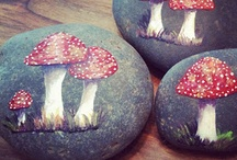 Toadstools / Painted