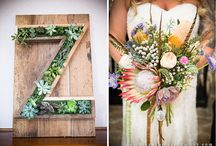 Bohemian Beach / Outer Banks wedding styled in an untraditional way.  Steer skull, crystals, flowers and antlers.  A little bit anthropologie!