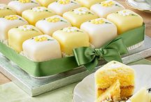 Easter Fondant Fancies / Showing our confectioners' skills at their most exquisite, our popular Fondant Fancies can be delivered to your home, arriving in perfect condition.