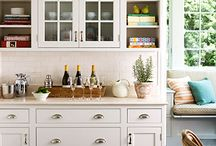 Kitchen Styling / Ideas for taking a basic kitchen to beautiful! How to add style to open shelves, countertops, walls and more!