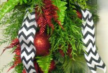 Outdoor Xmas decorating ideas / Wreaths and outdoor decorations