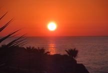 SUNSET IN PANORMOS RETHYMNO-CRETE