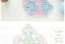 Granny squares and doilies.