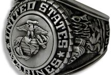 US Marine Corps Rings / Our Military Rings for the US Marine Corps come in a variety of gold, silver, rhodium and more. / by PriorService.com