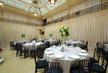 The Rookery / An exclusive light & fabric vendor for all weddings and events, our luxury fabrics are ideal for the history and elegance of this unique venue. #Chicago All decor, lighting, and fabric produced by Art of Imagination's Deborah Weisenhaus and her team. www.artofimagination.com