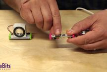 Home-Based Inventions / STEM and STEAM creations made by kid inventors at home  using the littleBits Rule Your Room Kit.