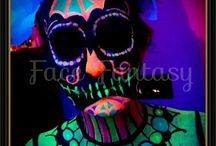 UV neon face- & bodypaint by Face Fantasy | BodyArt