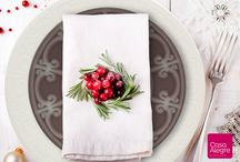 Christmas Inspiration | Casa Alegre / Festive table settings and decoration ideas for happy holidays.