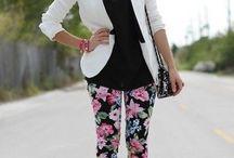 pantalones floriados