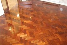 Living Room Herringbone Installed / Client: Residence In Central London. Brief: To supply & install wood floor.