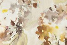 Watercolour wallpaper / Tapeta z efektem akwareli