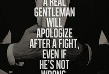 Gentleman / Nice quotes