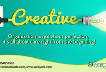 creative ad agency in vizag / Creative organization is not about perfection,its all about care right from the biginning.