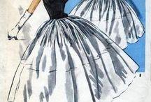 Платья - 1950-е годы