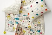 Blankets, playmats, cushions