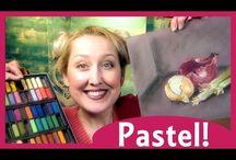 pastel, oil, acril