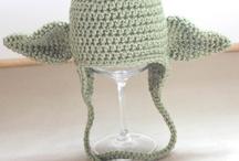 crochet hats, scarfs